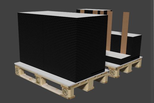 3D Paletten Stapel + Verpackung