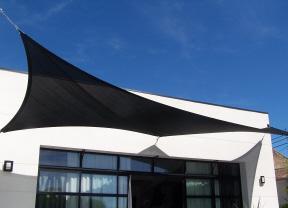 Black shade sail
