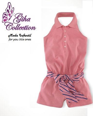 tela dril piel durazno modelo carin lazo cintura  elasticada   pechera botines  cuello tipo camisa