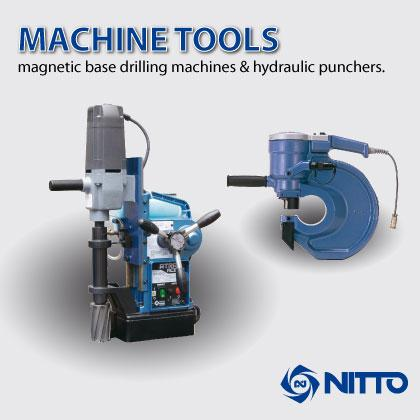 Portable Magnetic Base Drilling Machines with Automatic and Manual Feed & Hydraulic Punchers.