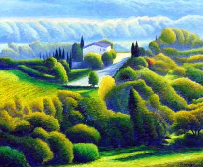 Original Painting (Oil on canvas) - ca. 35.5 x 43.5 inch - 110 x 90 cm. Senese near Florence.