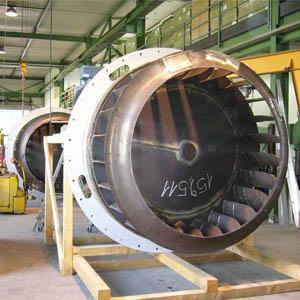 Heissgasventilator von MEIERLING werden in Industrieofenanlagen und Trocknungsanlagen eingebaut