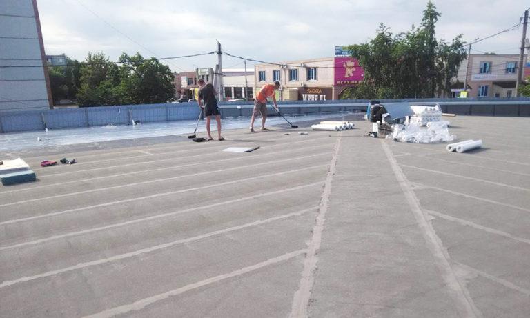 Repair of a self-adhesive roof of Germeteks