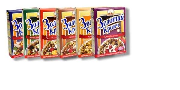 Mixture of baked flakes and cereals with addition of frits and nuts. Weight 400g.Assortment:Chokolate, Nut and Grape, Cream, Tropic