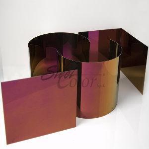 La colorazione delle lastre viene ottenuta mediante un sistema di elettrocolorazione (I.N.C.O) http://www.steelcolor.it/prodotti/acciaio-inox-lucido-specchio.html
