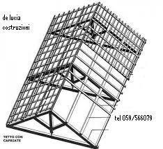 tetto  in legno  massiccio