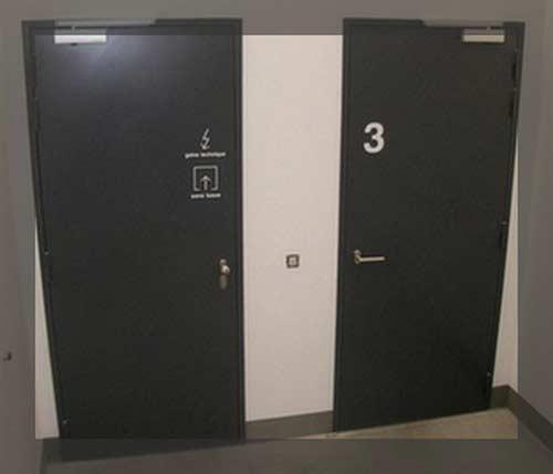Portes intérieures coupe-feu