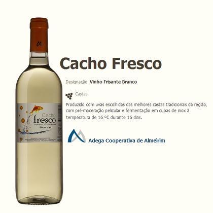Vinho Frisante. ADEGA COOPERATIVA DE ALMEIRIM