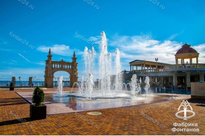 Installation of a fountain in a village of Archipovo-Osipovka