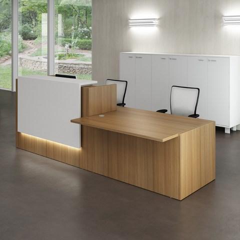 Nous vous proposons une gamme complète de Banque d'Accueil très Design qui reflétera votre image de marque dés l'accueil de vos visiteurs.Plan de réception pour recevoir des personnes assises.