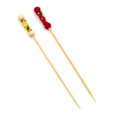 Red and Yellow Peal Decorated Skewers - Other colour and sizes available