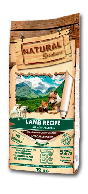 Hypoallergenic and human grade lamb (mono protein) formulated without grains or grains with high digestibility and ideally developed for all ages with sensitive digestion.