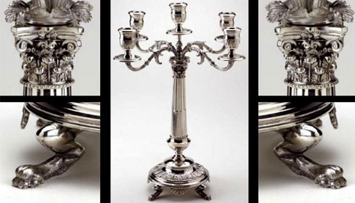 Candelabri d'argento e silverplated
