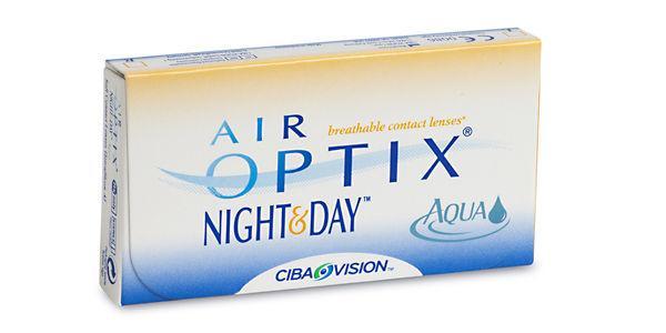 AIR OPTIX AQUA/ NIGHT & DAY AQUA/ FOR ASTIGMATISM/  contact lenses by CIBA Vision (6 lenses/box).