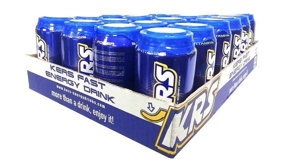 KRS ENERGY DRINK box 24unds.