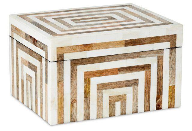 Decorative Bone & Wooden Box