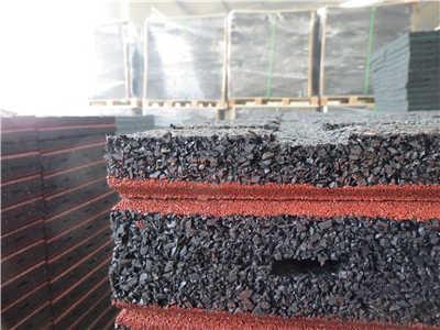 EN 1177 rubber tiles