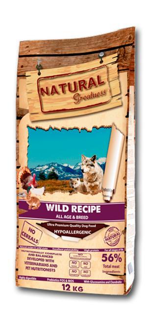 Excellent hypoallergenic recipe formulated without cereals or grains to satisfy the nutritional needs for all breeds in all the stages of the life.
