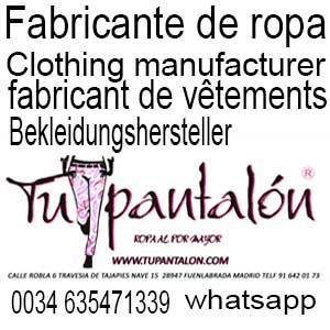 Clothing manufacturer, fabricante de ropa de mujer, Bekleidungshersteller,fabricant de vêtements,صناعة الملابس,производитель одежды,