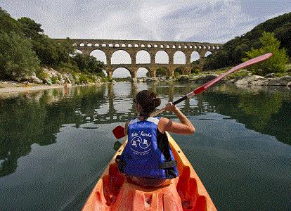 Canoe Pont du gard