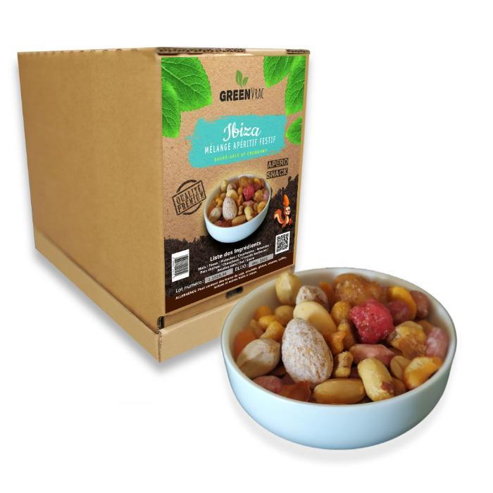 IBIZA - Mélange Apéritif Festif  en GreenBox  de 4kgs