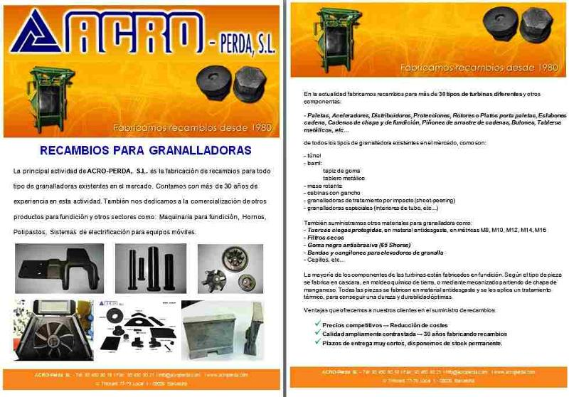 ACRO-PERDA Shotblasting Spare Parts