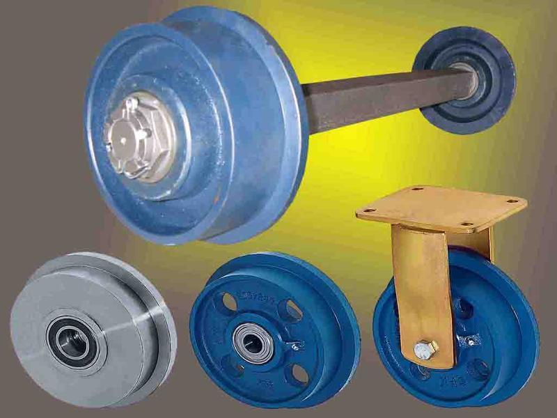 Spurkranzräder und Radsätze aus Polyamid, Grauguss oder Stahl mit Tragkräften bis zu 33.000Kg