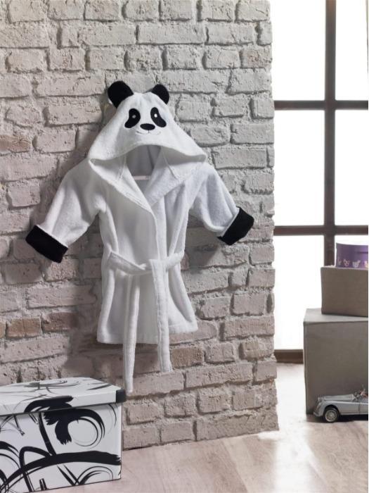 Baby Bademantel mit Kapuze (Panda)