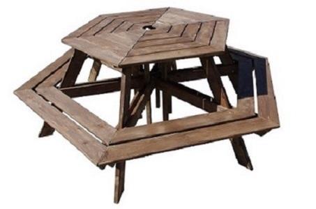 hexagonal table
