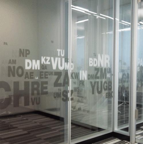 Glasdekor / Sichtschutz