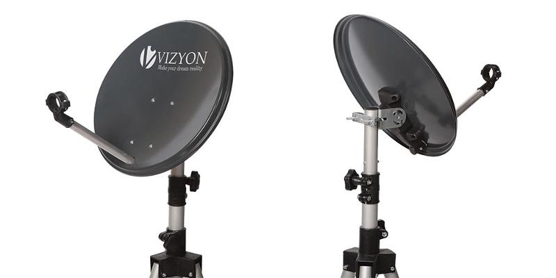 satellite dish antenna with plastic mount
