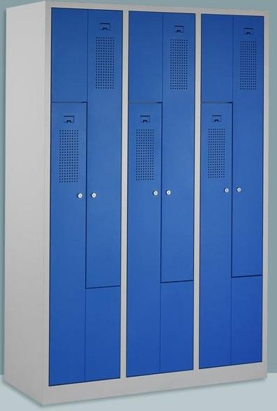 Z shape 6 Units Locker  			Steel Clothes Cabinet 			Material: Cold rolled steel  			Sizes: As your required  			Color: As your required  			Structure: KD  			Finish: Powder coating