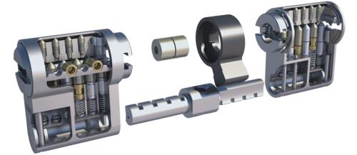 mechanisches Schließsystem, modular