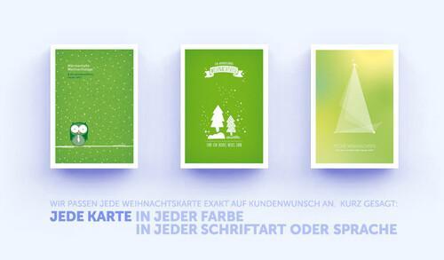 Grüne Weihnachtskarten