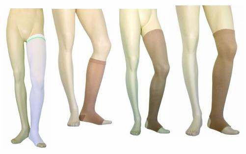 Production of pantyhose and tights and elastic orthopedic and compression stockings class III seamless.