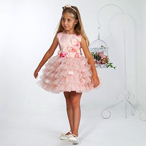 Handmade dress with wonderful 3D flowers