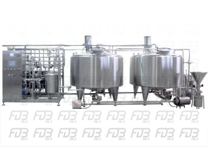 Pasteurizer HTST3000 + 3000x2 tanks + triblender