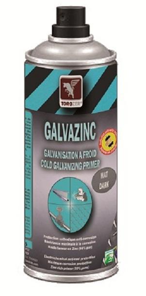 Aérosols de Galvanisation à froid. Riche en zinc (99% pur). Protège de la corrosion. Pour: retouches en sorties de bains de galvanization à chaud, protection cathodique de la rouille, etc.