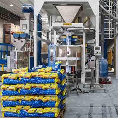 Solid detergent production