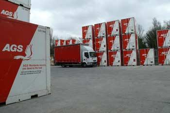 AGS containers and removal truck