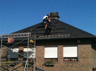 Début installation photovoltaïque