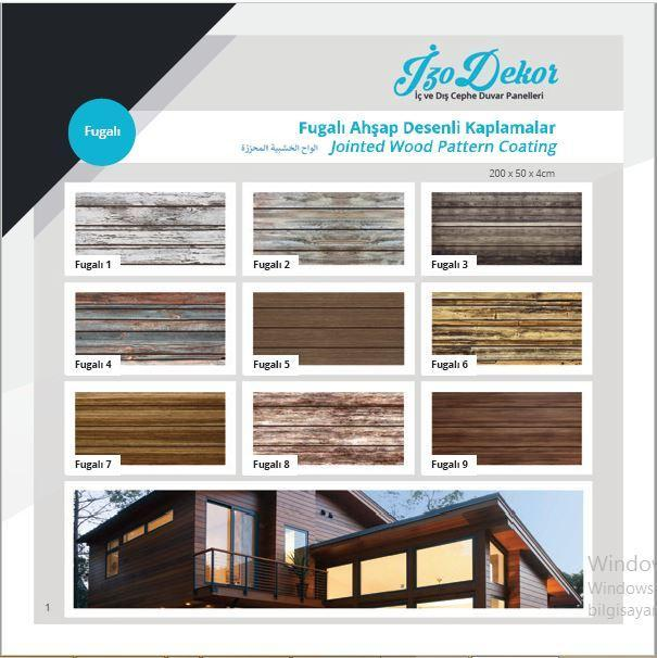 Jointed wood patterned coating panels
