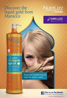 Nutrilizz helps to reduce the hair volume thanks to the Argan Oil and Brazilian Keratin properties.  The formula does not contain formaldehyde and it is compatible with different similar products.