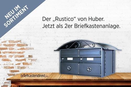 Huber Rustico 2er Briefkastenanlage