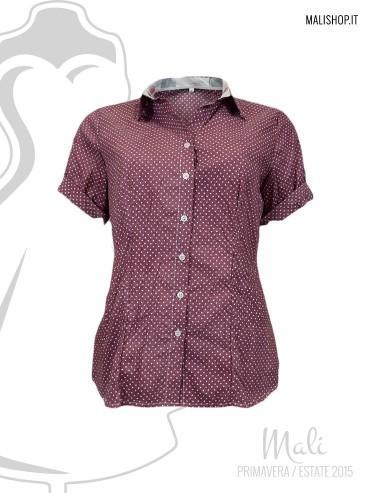 Camicia fantasia manica corta 100% cotone. made in italy