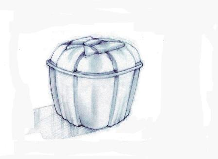 Vaschetta con il fiocco ad uso insalatiera e contenitore salvaliquido, sovrapponibile, con capacità 375 cc 500 cc 750 cc e 1000 cc disponibile in Pet e Bops.