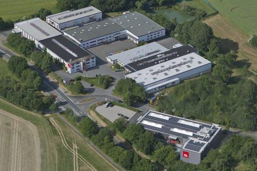 Luftaufnahme von Firmengelände