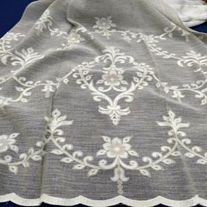 300cm width, embroidery, linenlook base, poly.