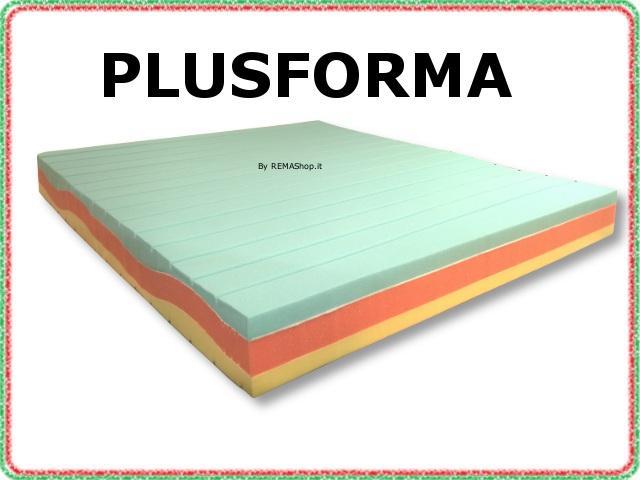 Materasso in memory foam mod. PLUSFORMA  Lastra a 3 strati multionda con memory foam viscoelastico