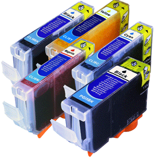 Ink cartridges compatible to PGI-5/CLI-8 -chip-